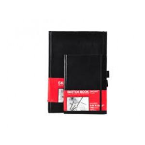 Скетчбук А4 110г/м портрет 80 л. тверд.обл., резинка-фиксатор SFZ032