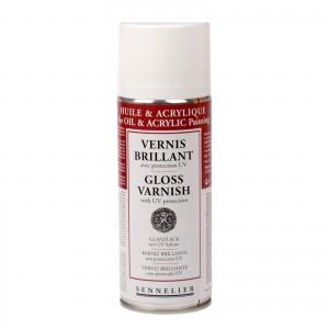 Sennelier Лак-спрей глянцевый д/акрила и масла с UV-защитой, 400мл